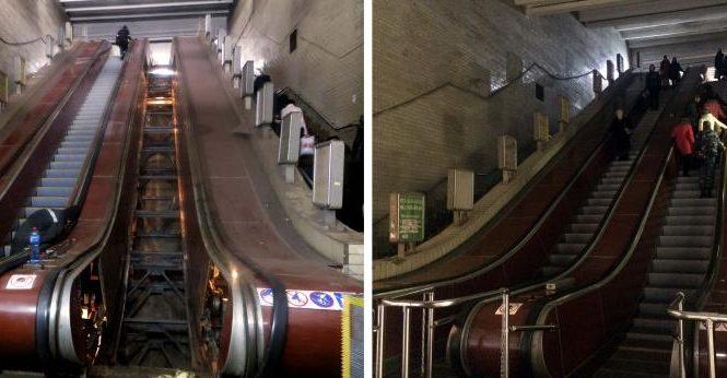 На центральном вокзале в Киеве заработал эскалатор к скоростным трамваям