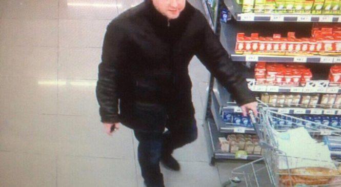 Внимание, розыск: в Киеве ищут мужчину, укравшего из супермаркета тележку продуктов
