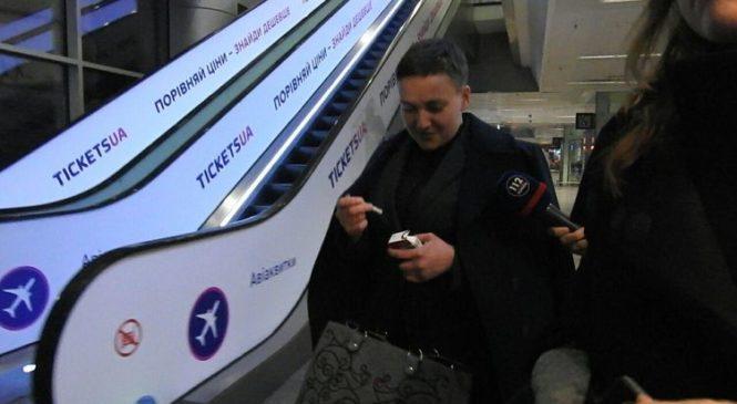 Вернувшись в Украину, Савченко первым делом решила закурить